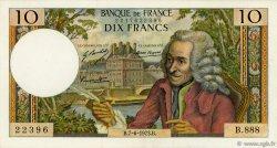 10 Francs VOLTAIRE FRANCE  1973 F.62.62 pr.SUP