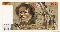 100 Francs DELACROIX modifié FRANCE  1978 F.69.01c pr.SUP