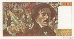 100 Francs DELACROIX modifié FRANCE  1981 F.69.05