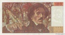 100 Francs DELACROIX modifié FRANCE  1982 F.69.06 TTB+