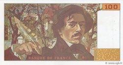 100 Francs DELACROIX imprimé en continu FRANCE  1990 F.69bis.01a SUP