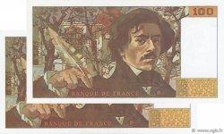 100 Francs DELACROIX imprimé en continu FRANCE  1990 F.69bis.02b pr.SPL