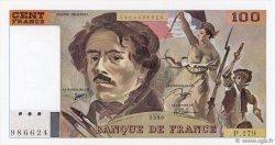100 Francs DELACROIX imprimé en continu FRANCE  1990 F.69bis.02c SPL