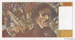100 Francs DELACROIX imprimé en continu FRANCE  1990 F.69bis.02e1 TTB+