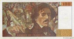 100 Francs DELACROIX imprimé en continu FRANCE  1990 F.69bis.02e2 TTB+