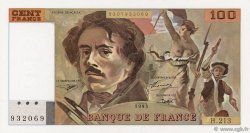 100 Francs DELACROIX imprimé en continu FRANCE  1993 F.69bis.05 pr.NEUF