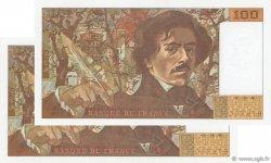 100 Francs DELACROIX imprimé en continu FRANCE  1993 F.69bis.08 SUP
