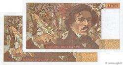 100 Francs DELACROIX imprimé en continu FRANCE  1990 F.69bis.07b TTB