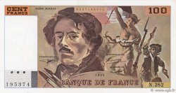 100 Francs DELACROIX 442-1 & 442-2 FRANCE  1994 F.69ter.01b SUP+