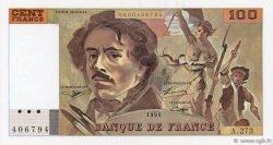 100 Francs DELACROIX 442-1 & 442-2 FRANCE  1995 F.69ter.02b SPL