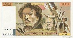 100 Francs DELACROIX UNIFACE FRANCE  1995 F.69U.02 pr.SUP
