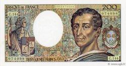 200 Francs MONTESQUIEU FRANCE  1992 F.70.12c pr.NEUF