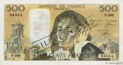 500 Francs PASCAL FRANCE  1993 F.71.51 TTB