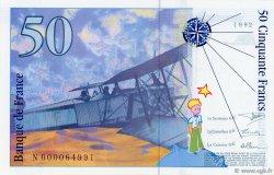 50 Francs SAINT-EXUPÉRY FRANCE  1992 F.72.01a SPL