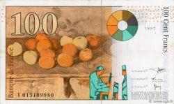100 Francs CÉZANNE sans STRAP FRANCE  1997 F.74bis.01 pr.SUP