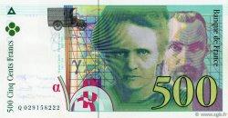 500 Francs PIERRE ET MARIE CURIE sans STRAP FRANCE  1994 F.76qua.01 pr.SPL