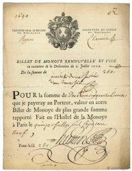 250 Livres - Monoye FRANCE  1709 Laf.13 TTB