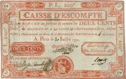 200 Livres FRANCE régionalisme et divers  1790 Laf.116 pr.TTB