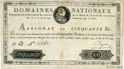 50 Livres FRANCE  1792 Ass.28a TTB