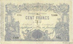 100 Francs type 1862 Indices Noirs FRANCE  1881 F.A39.17 pr.TB