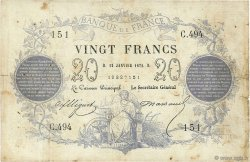 20 Francs type 1871 FRANCE  1872 F.A46.03 pr.TB