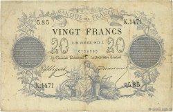 20 Francs type 1871 FRANCE  1873 F.A46.04 B+