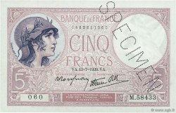 5 Francs VIOLET modifié FRANCE  1939 F.04.00 SUP+