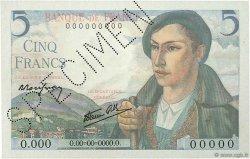 5 Francs BERGER FRANCE  1943 F.05.00 pr.NEUF