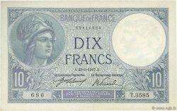10 Francs MINERVE FRANCE  1917 F.06.02 SUP+