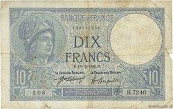 10 Francs MINERVE FRANCE  1920 F.06.04 B+