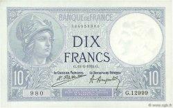 10 Francs MINERVE FRANCE  1924 F.06.08 pr.SPL