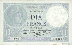 10 Francs MINERVE modifié FRANCE  1942 F.07.31 pr.TTB