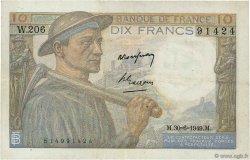 10 Francs MINEUR FRANCE  1949 F.08.22a TTB+