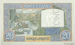 20 Francs SCIENCE ET TRAVAIL FRANCE  1939 F.12.00 SPL