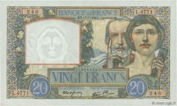 20 Francs SCIENCE ET TRAVAIL FRANCE  1941 F.12.16 SPL