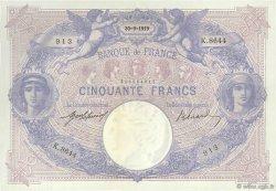 50 Francs BLEU ET ROSE FRANCE  1919 F.14.32 SUP