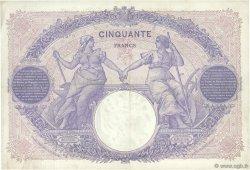 50 Francs BLEU ET ROSE FRANCE  1921 F.14.34 TTB+
