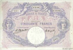 50 Francs BLEU ET ROSE FRANCE  1923 F.14.36 TTB