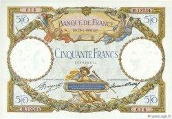 50 Francs LUC OLIVIER MERSON type modifié FRANCE  1933 F.16.04 SUP à SPL