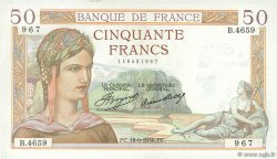 50 Francs CÉRÈS FRANCE  1936 F.17.27 SUP