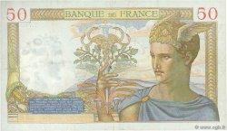 50 Francs CÉRÈS modifié FRANCE  1938 F.18.09 TTB à SUP