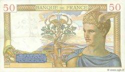 50 Francs CÉRÈS modifié FRANCE  1939 F.18.28 TTB+