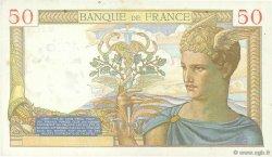 50 Francs CÉRÈS modifié FRANCE  1939 F.18.33 TTB+