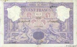 100 Francs BLEU ET ROSE FRANCE  1896 F.21.09 B+
