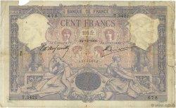 100 Francs BLEU ET ROSE FRANCE  1901 F.21.15 B+