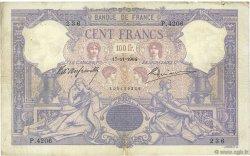 100 Francs BLEU ET ROSE FRANCE  1904 F.21.18 pr.TB