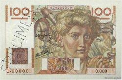 100 Francs JEUNE PAYSAN FRANCE  1945 F.28.00s2 pr.SPL