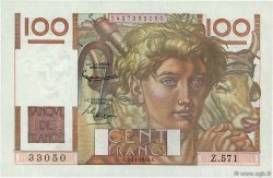 100 Francs JEUNE PAYSAN FRANCE  1953 F.28.40 pr.NEUF
