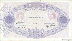 500 Francs BLEU ET ROSE modifié FRANCE  1938 F.31.16 pr.TTB