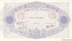 500 Francs BLEU ET ROSE modifié FRANCE  1939 F.31.36 TTB+